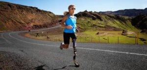Through-hip-prosthesis